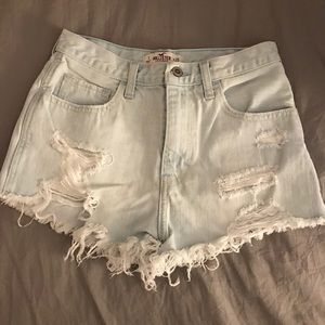 Hollister Acid Wash Jean Shorts